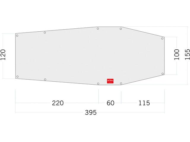 Tatonka PE Grönland 2 Gulvplade 395x100 / 155cm